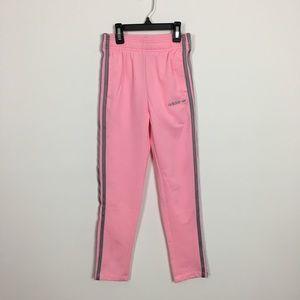 Girl pink adidas track pants size large